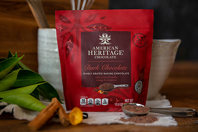 American Heritage Chocolate Finely Grated Baking chocolate